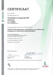 SCIOS certificaat 1-6-2015 tot 1-6-2018
